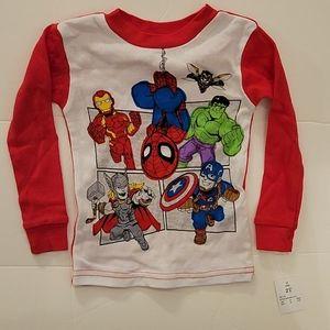 Marvel Superheroes Pajama Set, Red, Sz 2T, #3for8